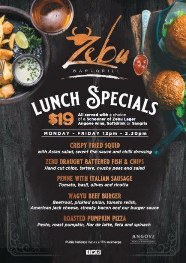 Weekday Lunch Specials