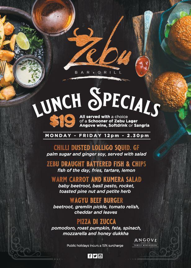 Weekday Lunch Deals