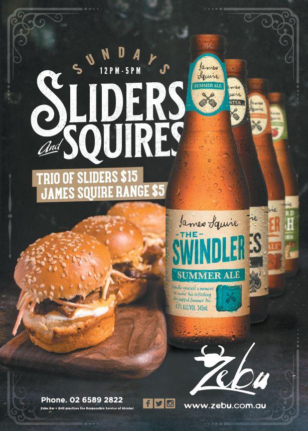 Sunday – Sliders & Squires