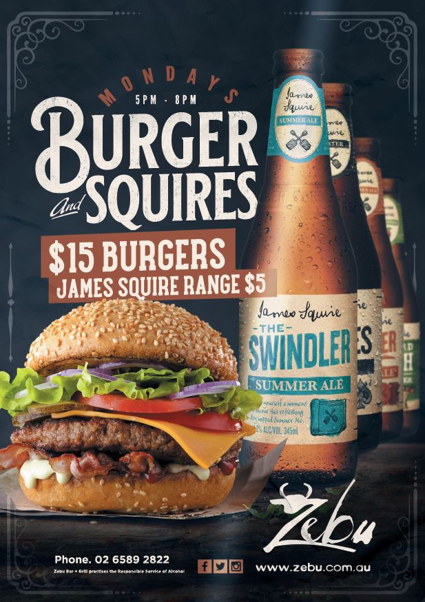 Monday | Burgers and Squires
